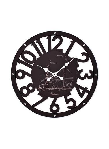 Ultima Regal Ultima Regal Ahşap İskelet Duvar Saati Büyük Boy Siyah Renkli